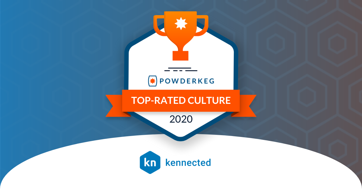 Kennected Wins Powderkeg Award For Best Places To Work- 2020 National Tech Culture Awards!