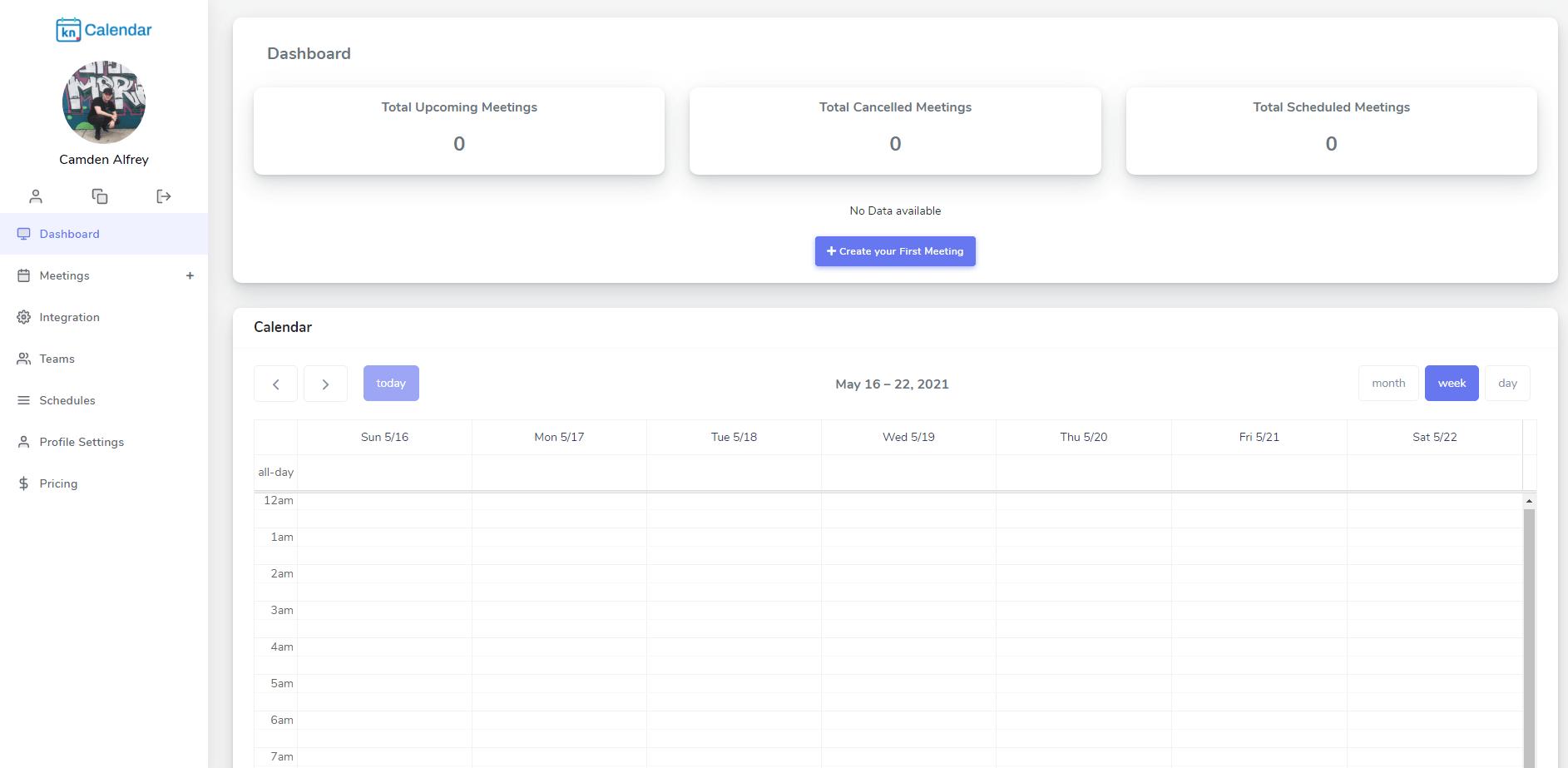 Kennected Calendar Dashboard